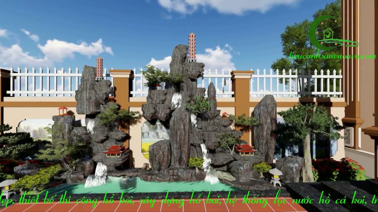 Thiết kế tiểu cảnh sân vườn nhà phố biệt thự