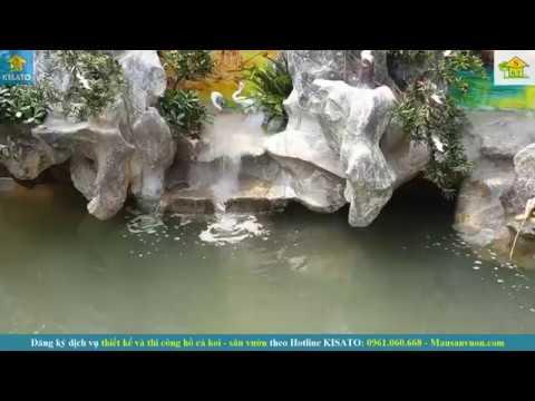 Thi Công Hồ Cá Koi Đẹp Cho Khuôn Viên Sân Vườn Biệt Thự Tại Nam Định