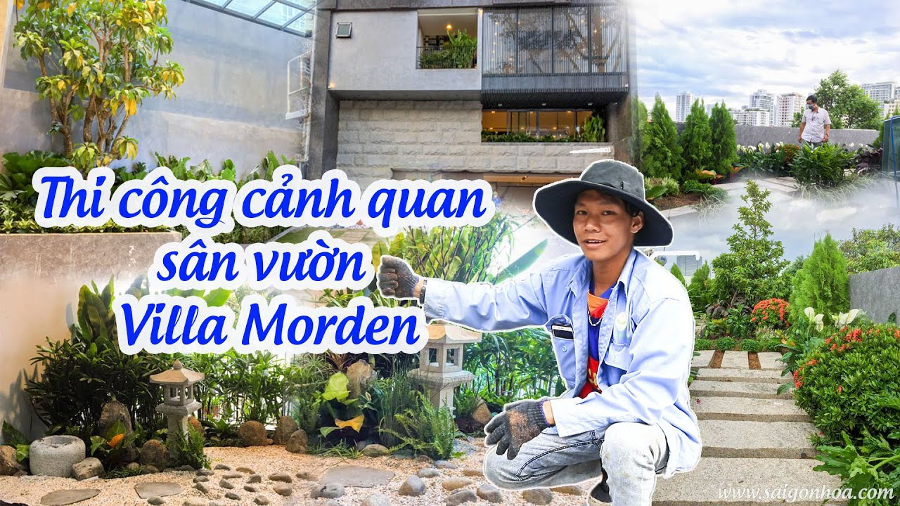 Thi công cảnh quan sân vườn Villa Morden