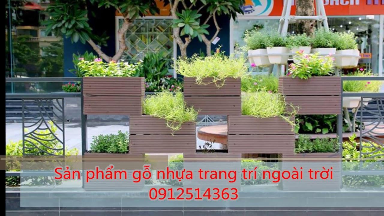 Thi công gỗ nhựa logia ban công tiểu cảnh sân vườn