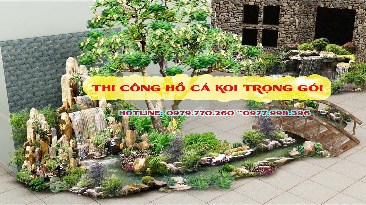 Thi công hồ cá koi, tiểu cảnh sân vườn toàn Vĩnh Phúc trọn gói. 0979770260