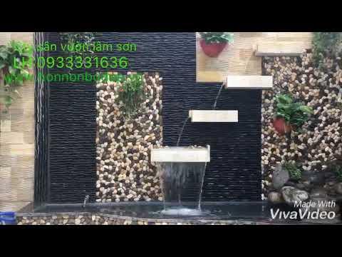 Thi công sân vườn - hòn non bộ - Tường Thác Nước 0933331636