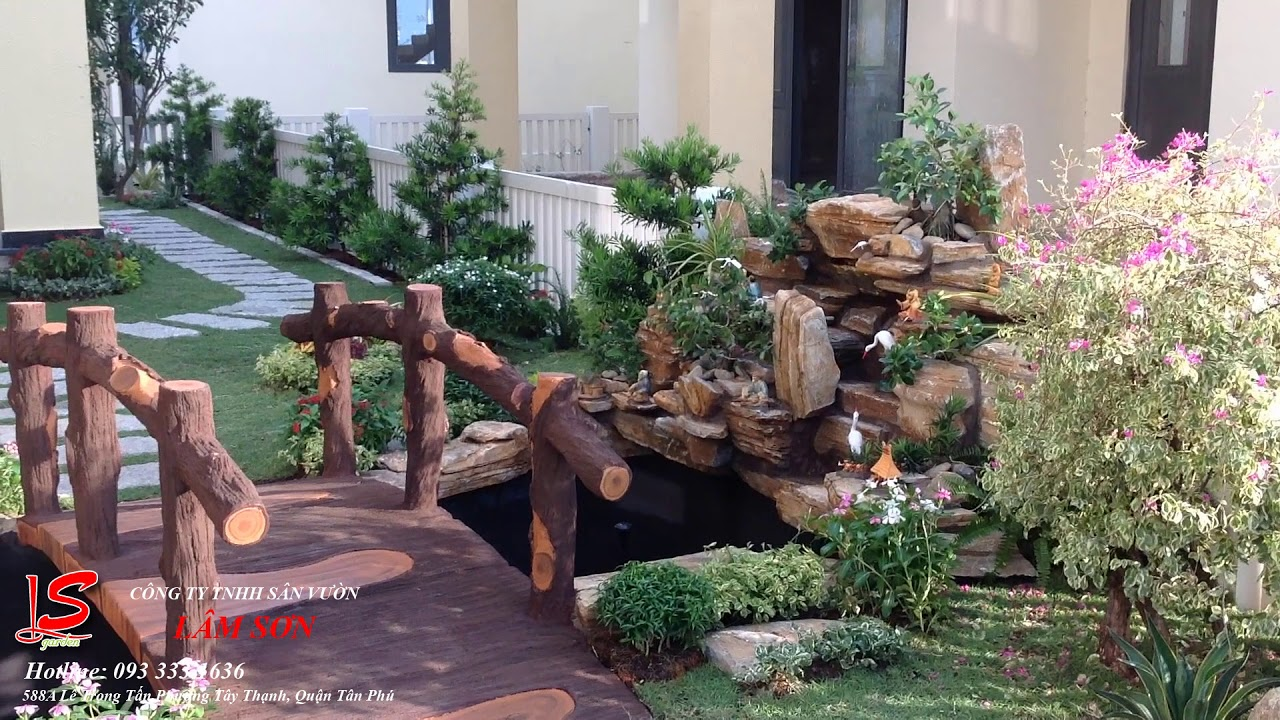 Thi công tiểu cảnh sân vườn nhà chị Dung - Quận 12