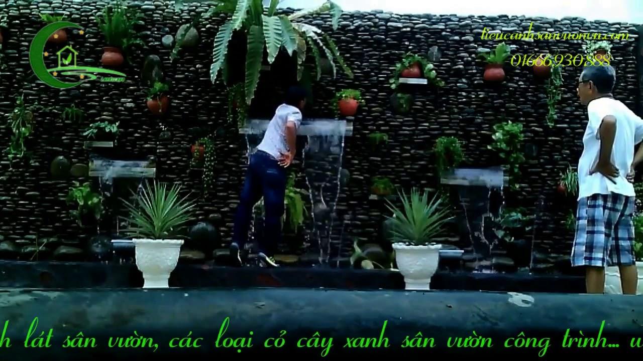 Thi công trọn gói tiểu cảnh tường nước, thác nước đẹp sân vườn