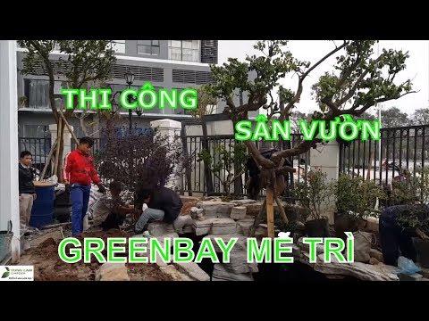 Thi công trang trí sân vườn & hồ cá Koi Vinhomes Greenbay Mễ Trì ngày  22/1/2019