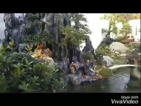 Tiểu cảnh Non bộ hồ cá koi sân vườn tuyệt đẹp - 0969418468