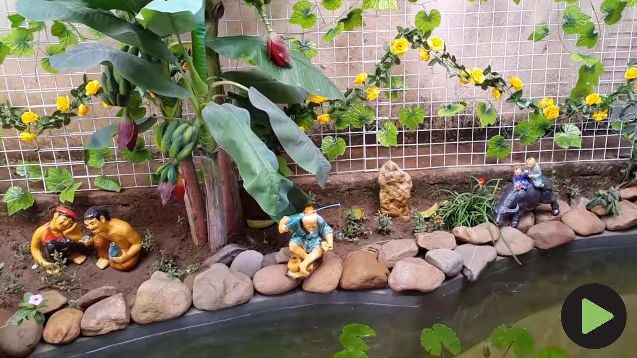 Tiểu cảnh sân vườn đẹp hồ cá cảnh sân vườn 2019