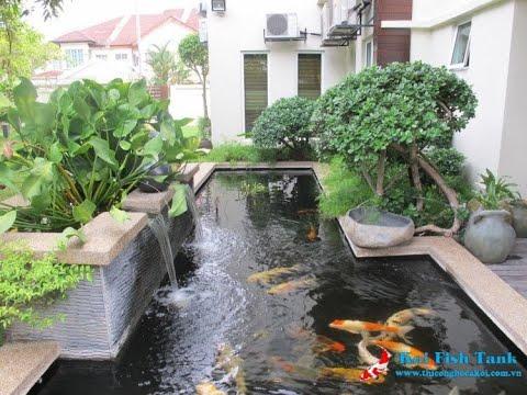 Tiểu cảnh sân vườn biệt thự cá koi đẹp nhất thế giới