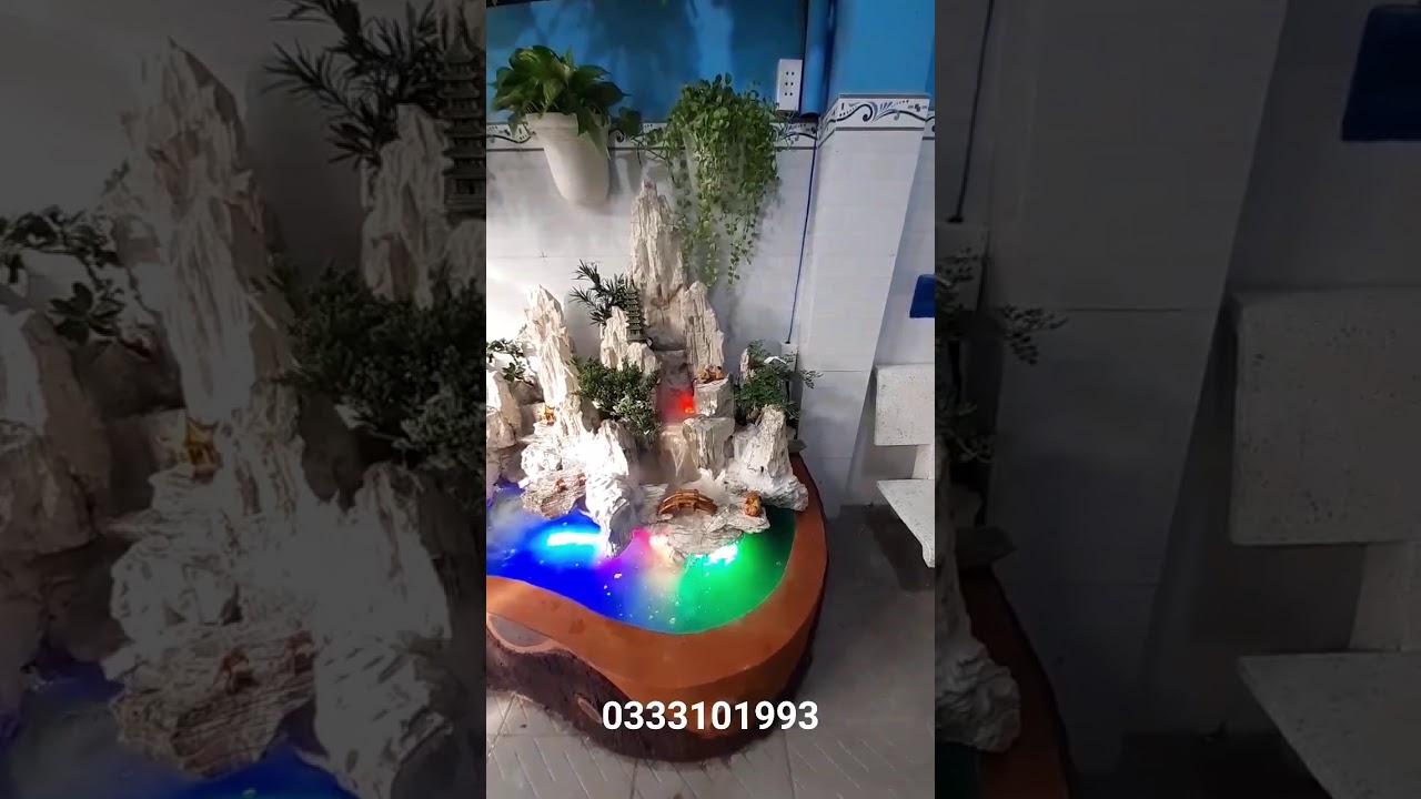 Xây non bộ bằng đá san hô qua chế tác cực chất