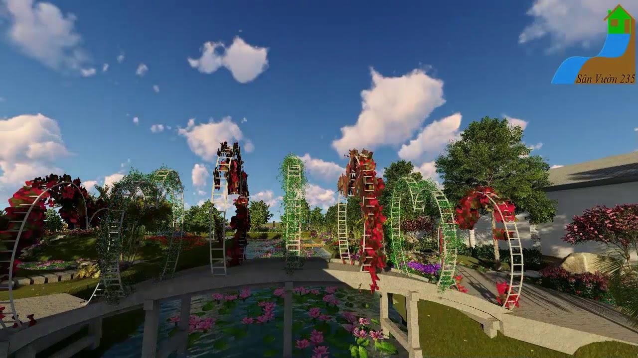 mẫu thiết kế sân vườn khu nghỉ dưỡng đồng quê - 0978588653