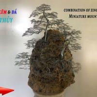 Đá phong thủy ghép với cây bằng dây kẽm độc lạ  | bonsai handmade