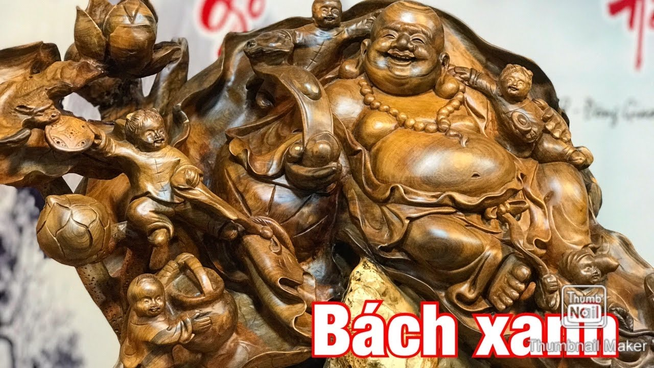BÁCH XANH   di lặc ngũ phúc ngôi lá sen ôm đá cực thơm Tượng Nguyễn Hồng 0987336318