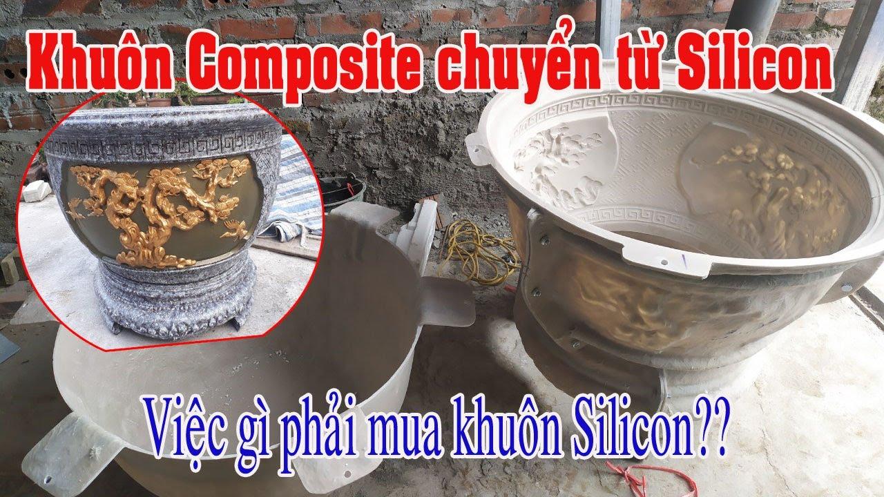Khuôn chậu tròn nhựa Composite có lòng trong - chuyển thể từ khuôn Silicon