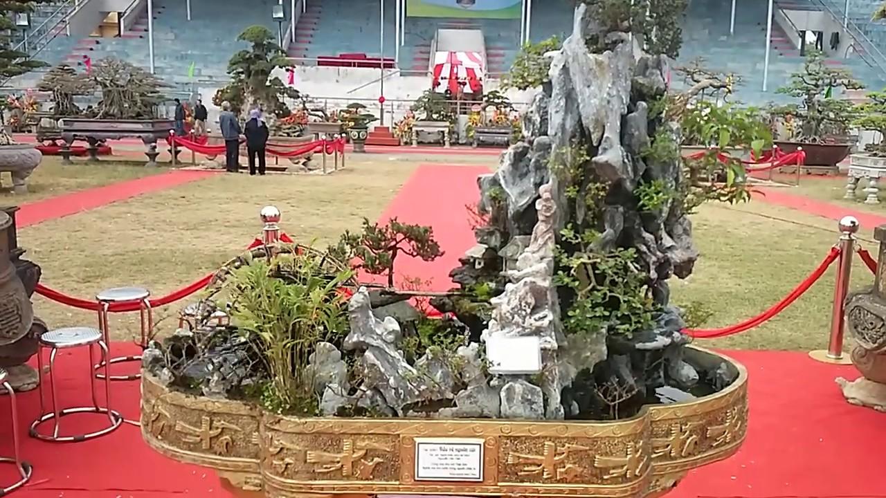 Tác phẩm tiểu cảnh non bộ đẹp nhất hội chợ cây cảnh bonsai