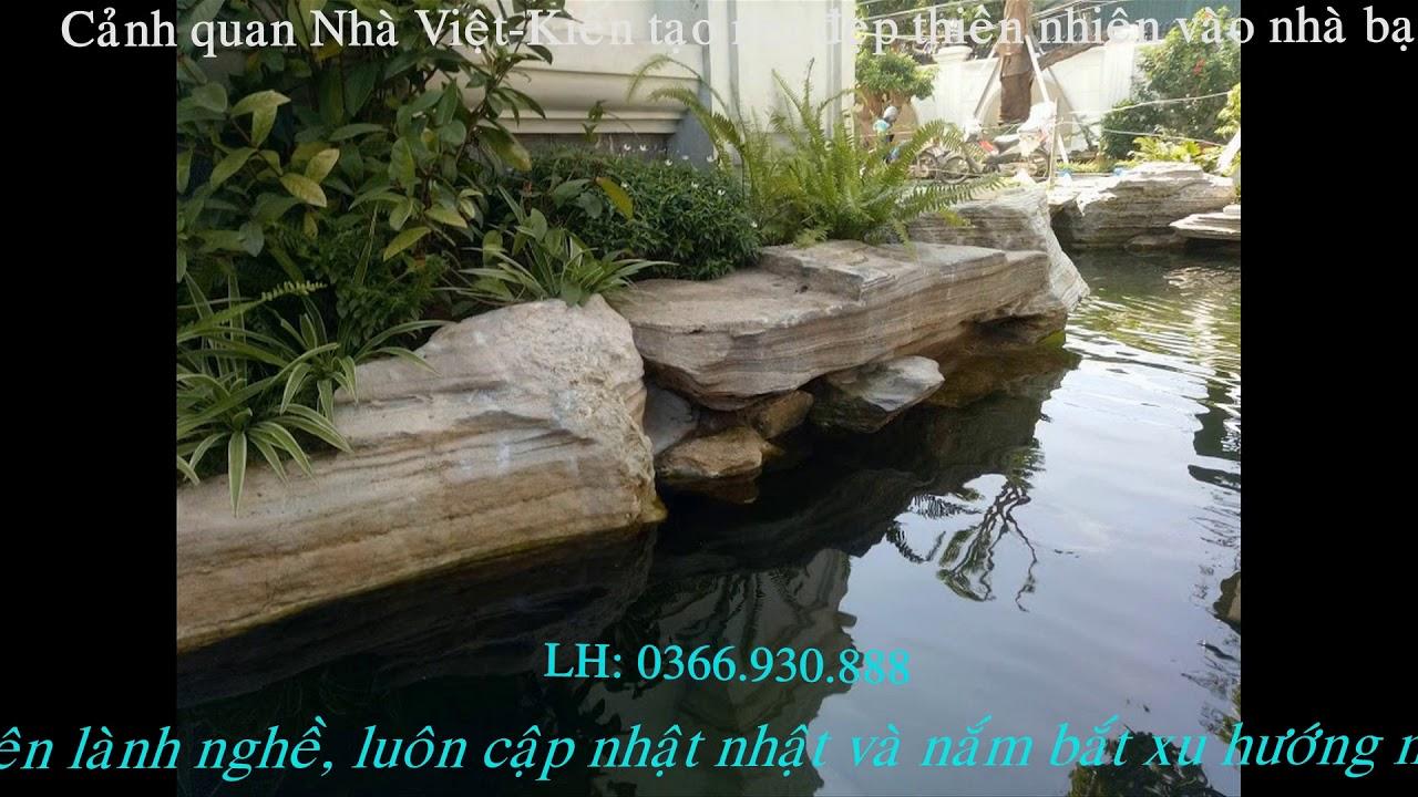 Tiểu cảnh hồ Koi: Thiết kế thi công tiểu cảnh hồ Koi tại Văn Giang - Hưng Yên