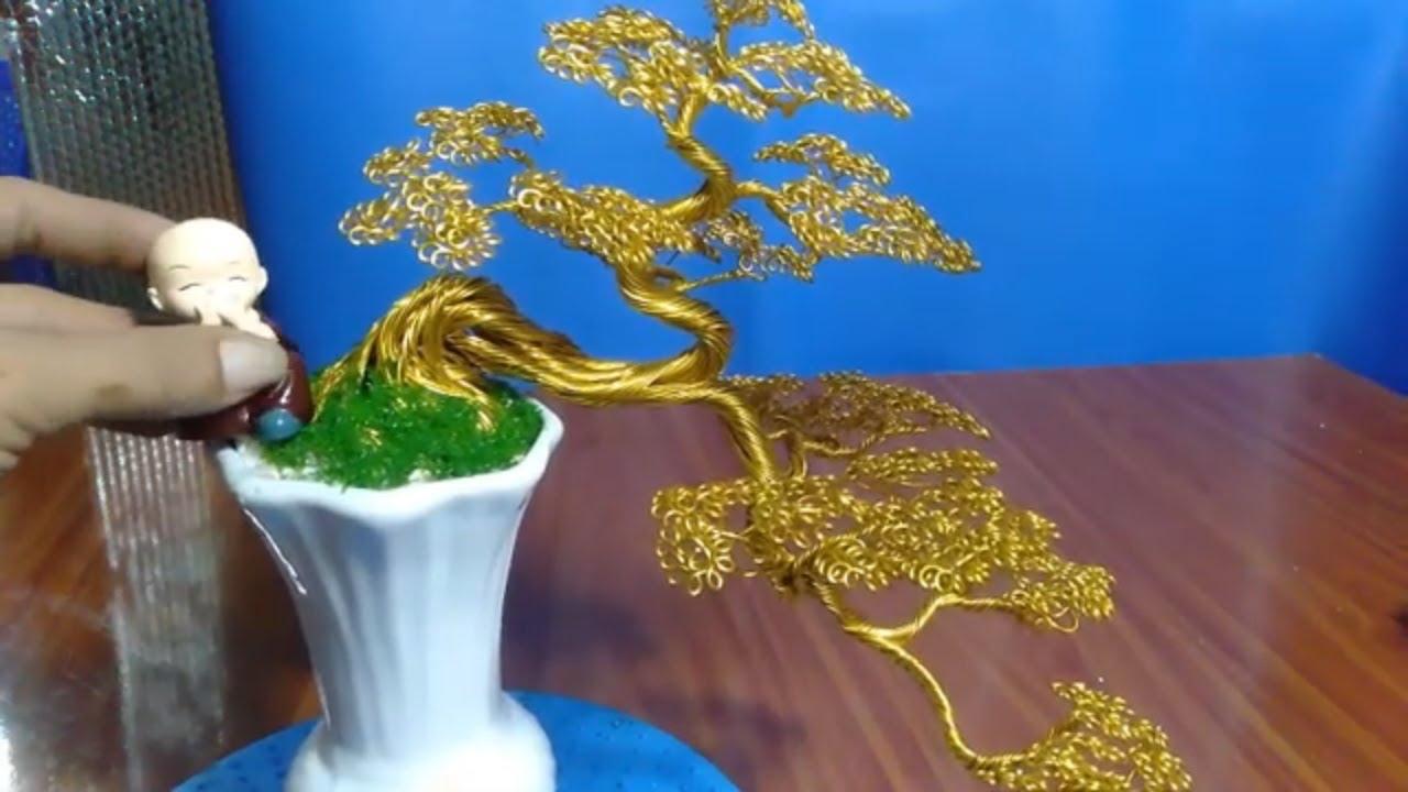 bonsai handmade sadec thác đổ chậu bình