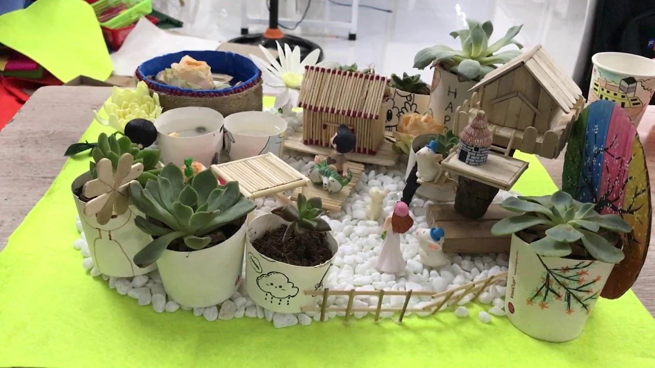 Chỉ bạn cách thiết kê mô hình tiểu cảnh sân vườn từ sen đá và những phụ kiện  nhỏ bé xinh xắn