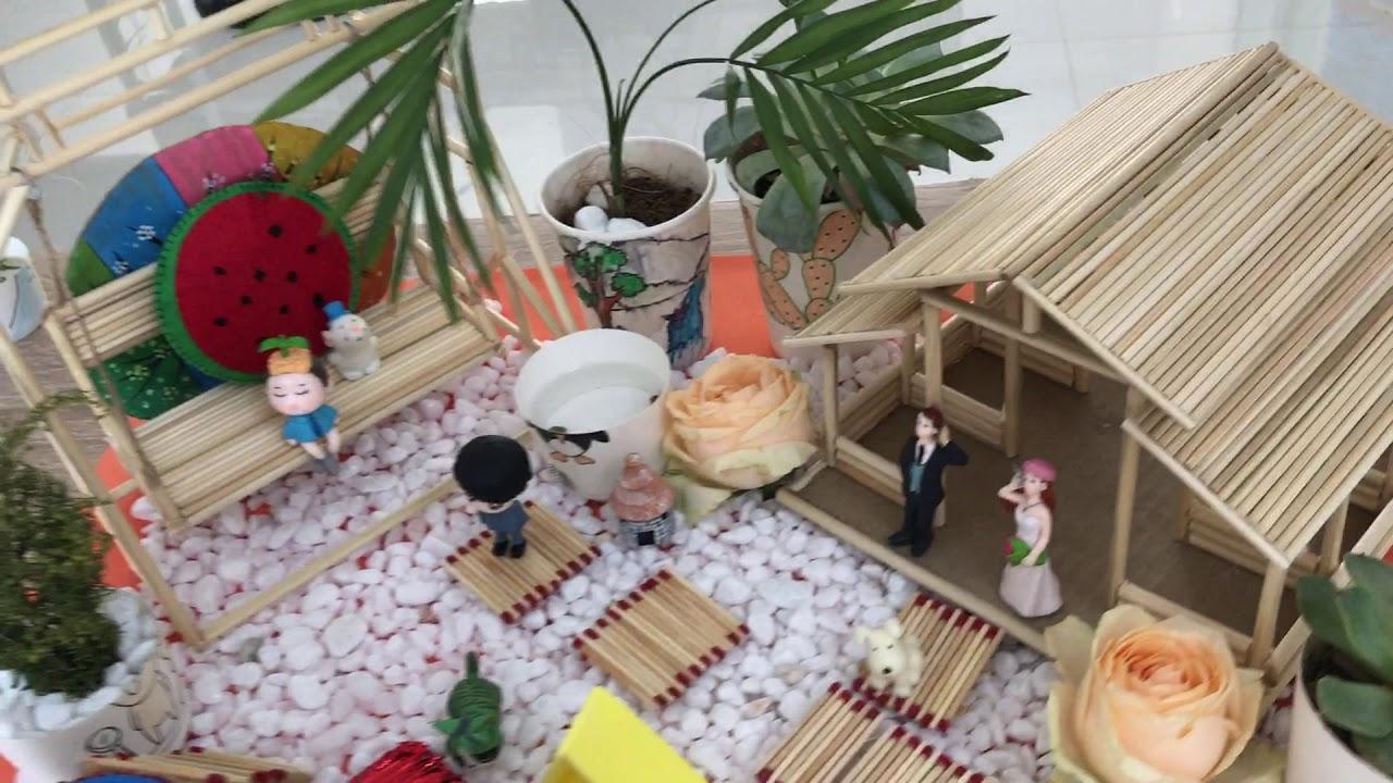 Hoàn thiện quy trình thiết kế mô hình tiểu cảnh sân vườn vô cùng lãng mạng mộc mạc mà bao người mơ ư