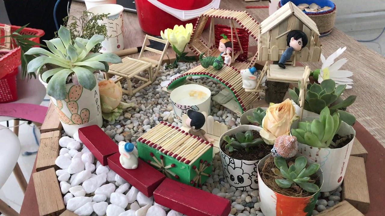 Hướng dẫn cách làm mô hình tiểu cảnh sân vườn vô cùng tinh sảo, đẹp đến mê hồn
