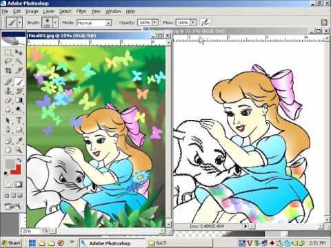 Học Photoshop online vẽ Brush bài 9