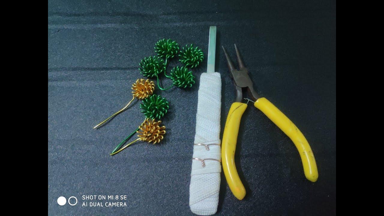 Hướng dẫn cách làm lá tùng.cách làm lá bonsai dây đồng.bonsai handmade.