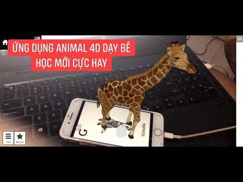 CÁCH DÙNG ỨNG DỤNG ANIMAL 4D  DẠY BÉ HỌC.4d animal technology