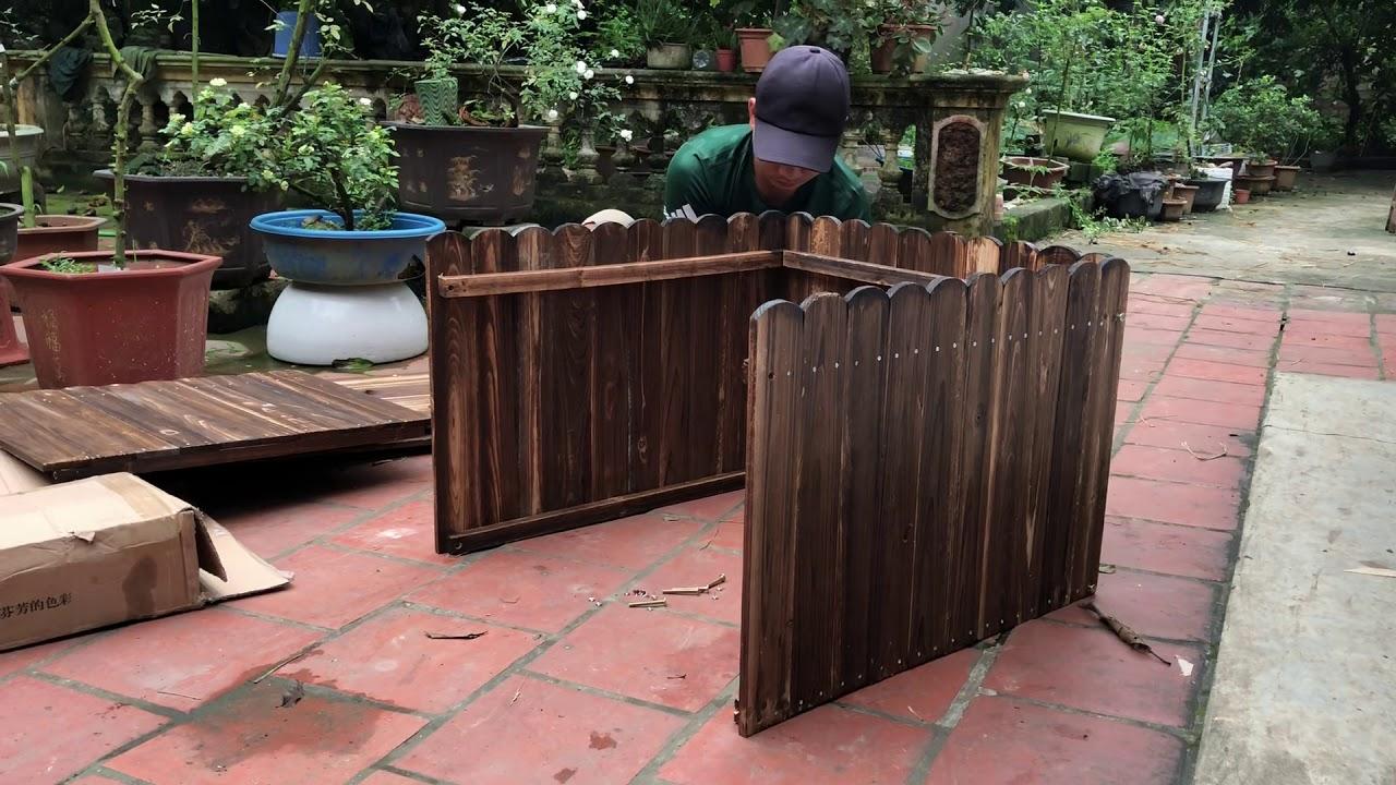 Chậu gỗ trồng cây