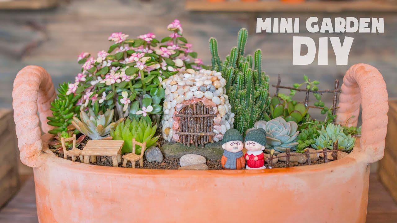 How I Make a Succulent Mini Garden| Cách làm tiểu cảnh sen đá tuyệt đẹp| 多肉植物| 다육이들 | Suculentas
