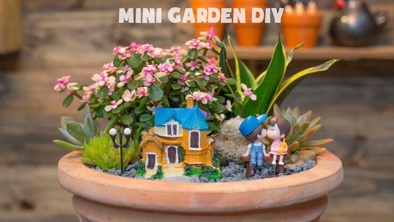 How I Make a Succulent Mini Garden DIY| Trồng một chậu tiểu cảnh sen đá tuyệt đẹp| 다육이들 | Suculentas