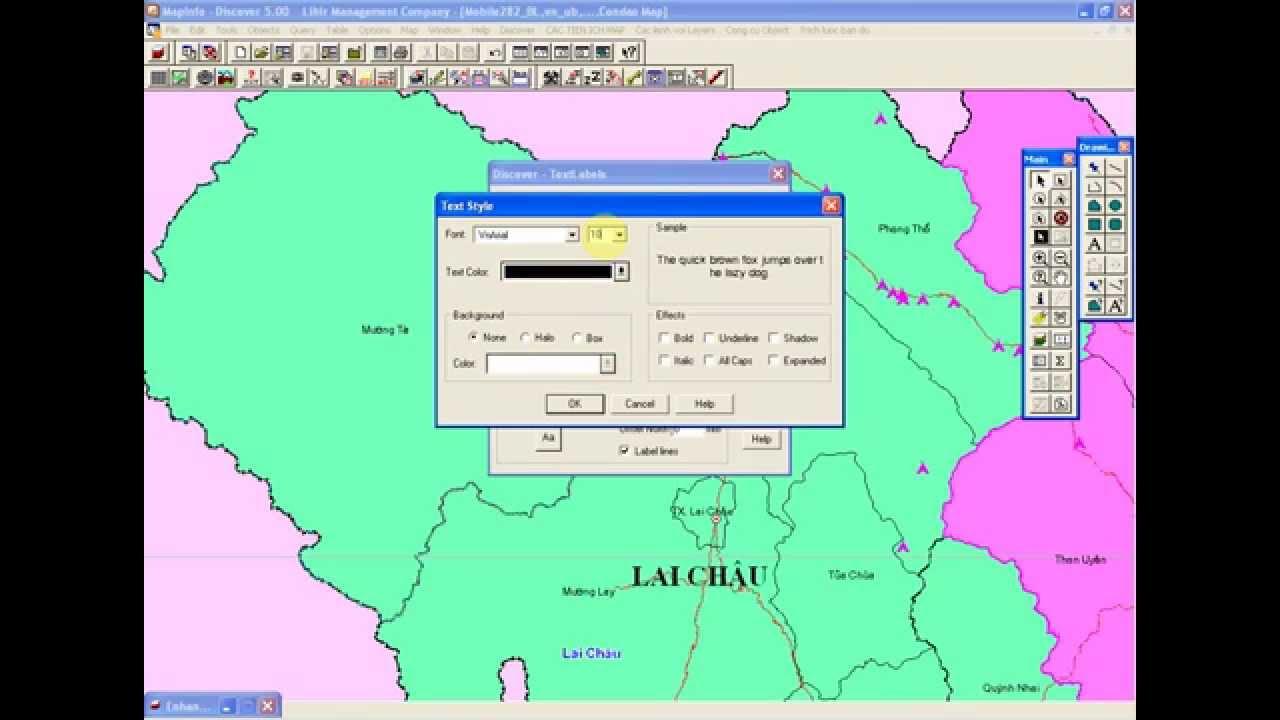 Mapinfo: chuyển label (nhãn đối tượng) sang dạng text- P1