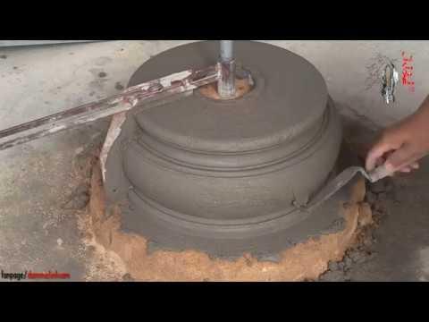Quay Chậu Tròn - Phần 4 (Quay Chân, Đế, Đôn) - Making Cement Pots 4