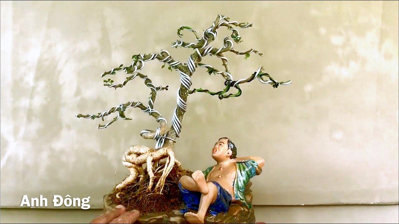 Ý tưởng và cách uốn cây bonsai trên chậu tượng