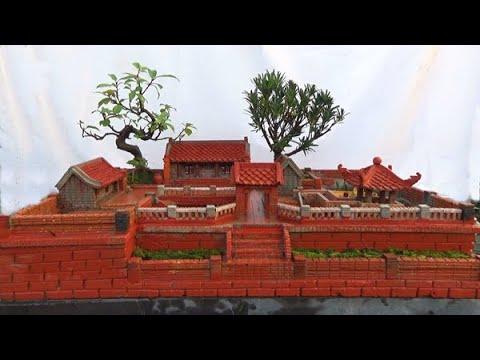 Tiểu cảnh, tạo tác công phu, tỉ mỉ từ gạch nung, Hồn quê, ĐT: 0337496058