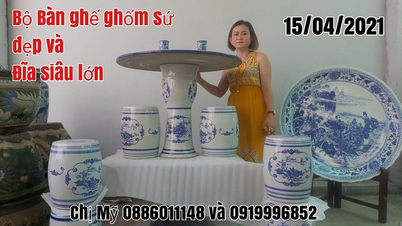 Bộ Bàn đôn gốm xứ và những chiếc đĩa khổng lồ đẹp giá bình dân gặp chị Mỹ