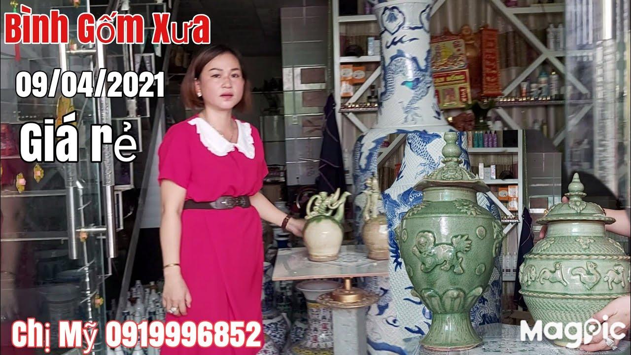 Đồ Gốm sứ xưa các loại : Bình , chóe, gặp chị Mỹ 0919996852 Phú Tân AG