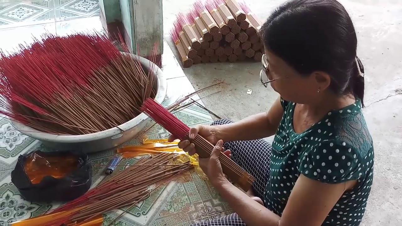 HV 275.thăm cơ sở sản xuất nhan hương đơn giản chuyên nghiệp